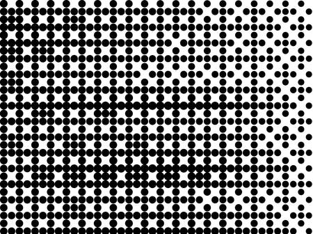 Digital dotted gradient. Vector template. Perforated Paper texture. Comic dotted pattern. Gradient pop-art backdrop. Graphic design geometric shape. Decorative backdrop vector.