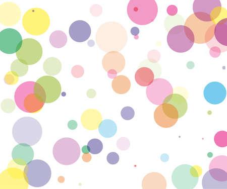 Colorful transparent bubbles, circles on a white background. Bokeh preset, design element to create light, delicate patterns. Vector illustration Vektorgrafik