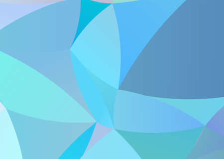 Mosaic pattern of irregular wavy figures. Imitation stained glass. Different shades of blue. Dynamic, motion style. Vector illustration