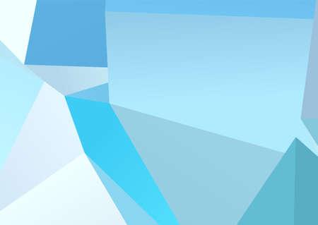 Banner abstracto sobre fondo claro. Fondo azul de moda. Fondo abstracto colorido. Formas azules. Elemento de decoración. Textura gráfica geométrica. Estilo de diseño plano.