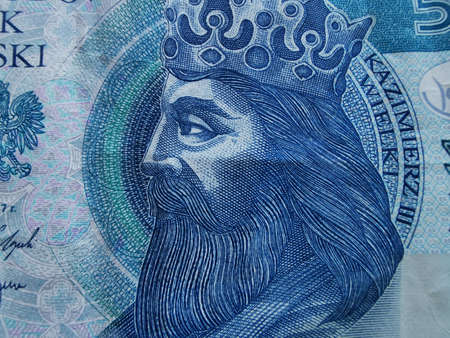 Polish Zloty. Official Currency of Poland in Denominations. Zlotych Macro Shot. Bank of Poland, Narodowy Bank Polski. Standard-Bild - 137051512