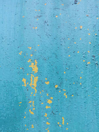 Blue grunge wall. Contemporary closeup for lifestyle design. Wallpaper pattern. Old dirty wall texture. Design template. Colorful background. Blue background. Retro style. Standard-Bild - 136448061