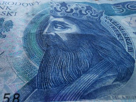 Polish Zloty. Official Currency of Poland in Denominations. Zlotych Macro Shot. Bank of Poland, Narodowy Bank Polski. Standard-Bild - 137051528
