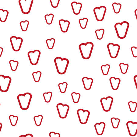 Valentine's day. Seamless pattern in sketch style on white background. Cover design with hearts. Romantic vector illustration. Textile print design. Love background. Beautiful vector pattern Standard-Bild - 137051533