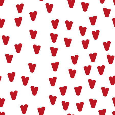 Valentine's day. Seamless pattern in sketch style on white background. Cover design with hearts. Romantic vector illustration. Textile print design. Love background. Beautiful vector pattern Standard-Bild - 137064581