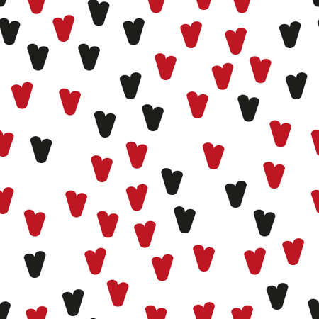 Valentine's day. Seamless pattern in sketch style on white background. Cover design with hearts. Romantic vector illustration. Textile print design. Love background. Beautiful vector pattern Standard-Bild - 137064582
