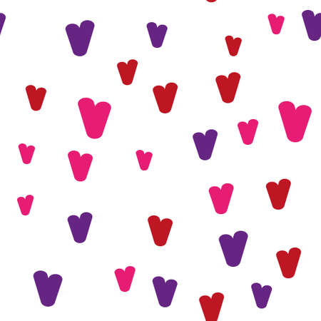 Valentine's day. Seamless pattern in sketch style on white background. Cover design with hearts. Romantic vector illustration. Textile print design. Love background. Beautiful vector pattern Standard-Bild - 137064583