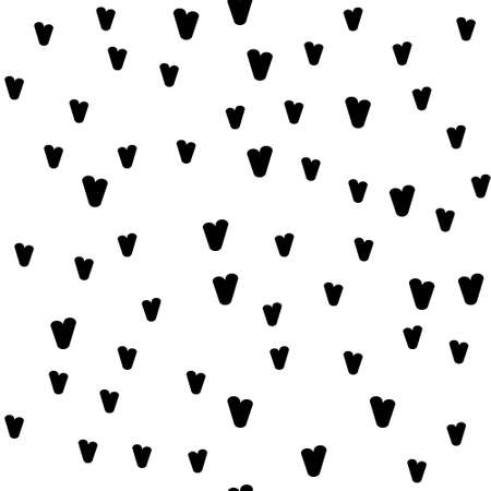 Valentine's day. Seamless pattern in sketch style on white background. Cover design with hearts. Romantic vector illustration. Textile print design. Love background. Beautiful vector pattern Standard-Bild - 137064585