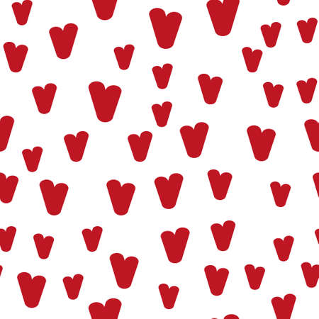 Valentine's day. Seamless pattern in sketch style on white background. Cover design with hearts. Romantic vector illustration. Textile print design. Love background. Beautiful vector pattern Standard-Bild - 137064587