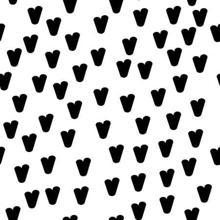 Valentine's day. Seamless pattern in sketch style on white background. Cover design with hearts. Romantic vector illustration. Textile print design. Love background. Beautiful vector pattern Standard-Bild - 137064589