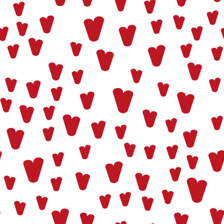 Valentine's day. Seamless pattern in sketch style on white background. Cover design with hearts. Romantic vector illustration. Textile print design. Love background. Beautiful vector pattern Standard-Bild - 137064593