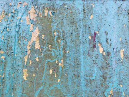 Blue grunge wall. Contemporary closeup for lifestyle design. Wallpaper pattern. Old dirty wall texture. Design template. Colorful background. Blue background. Retro style. Reklamní fotografie