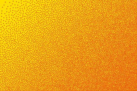 Small dots in abstract style on yellow background. Dot texture pattern. Abstract monochrome backdrop. Grunge design element. Modern art. Fashion illustration. Colorful background vector. Standard-Bild - 140282912