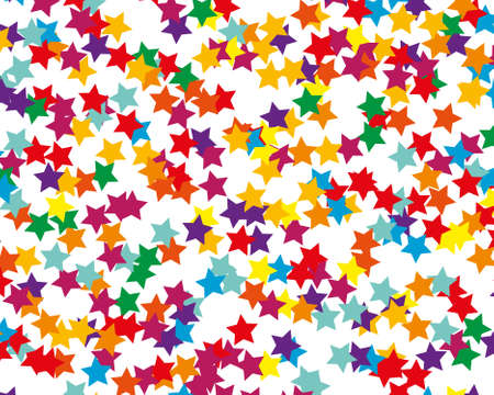 Abstract invitation on colorful background. Modern template with colored stars. Holiday pattern. Decorative backdrop vector. Holiday travel concept. Confetti background vector. Standard-Bild - 140282920