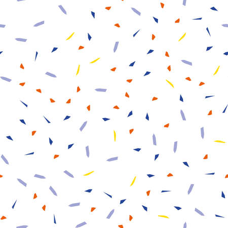 Falling confetti, seamless pattern, festive background. Cover design. Happy christmas pattern. Festival decor. Textile print design. Isolated object. Colorful background vector. Paper texture. Standard-Bild - 140282929