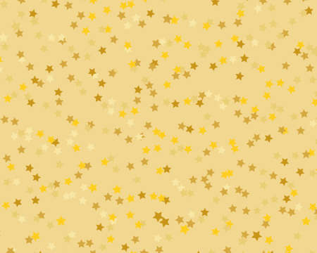 Gold stars background. Invitation, greeting card. Graphic vector design. Happy birthday, party. Gold background. Christmas abstract. Glowing invitation template. Falling glitter. Standard-Bild - 140358015