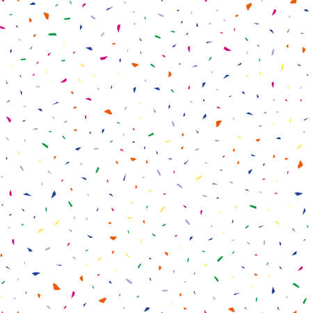 Falling confetti, seamless pattern, festive background. Cover design. Happy christmas pattern. Festival decor. Textile print design. Isolated object. Colorful background vector. Paper texture. Ilustracja