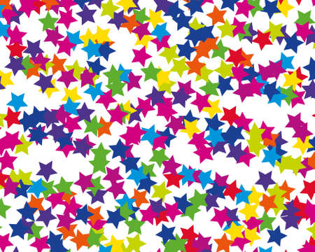 Abstract invitation on colorful background. Modern template with colored stars. Holiday pattern. Decorative backdrop vector. Holiday travel concept. Confetti background vector. Illustration