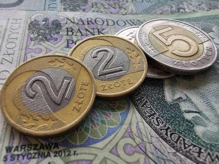 Polish Zloty. Official Currency of Poland in Denominations. Zlotych Macro Shot. Bank of Poland, Narodowy Bank Polski. Standard-Bild - 140534524
