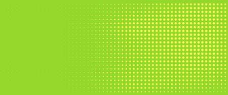 Green dotted background with yellow dots. Halftone pattern. Vector illustration. Trendy banner. 向量圖像