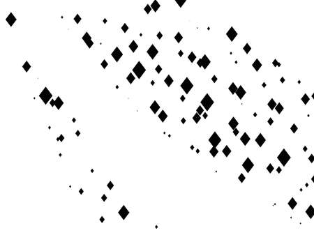 Geometric pattern with small and large rhombuses. Black and white color Vector illustration.