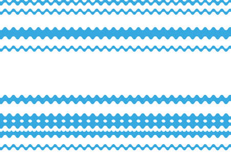 Pattern with wavy lines. Blue background. Vector illustration.