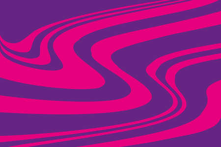 Pink-purple background with swirling wavy lines. Psychedelic pattern. Vector illustration.