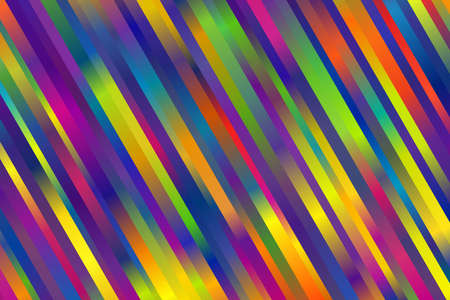 Multicolored slanted stripes background. Rainbow banner, Wallpaper. Vector illustration