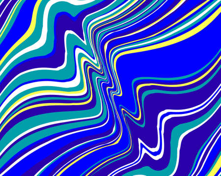 Bright twisted background with colourful neon wavy lines  Vector illustration