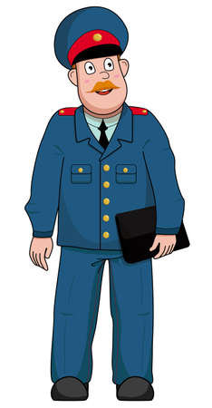 A male police officer in a professional suit without a background Ilustración de vector