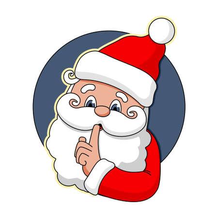 Secret of Santa Claus icon sticker vector