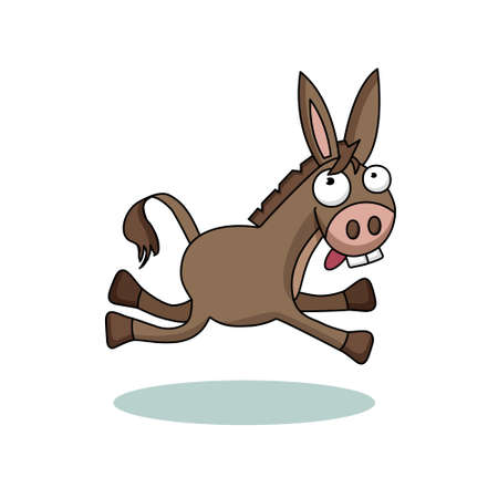 Ridiculous donkey illustration for children vector animal