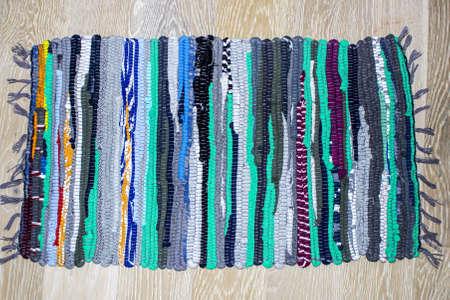 oriental rug: Carpet of multi-colored fabrics Stock Photo