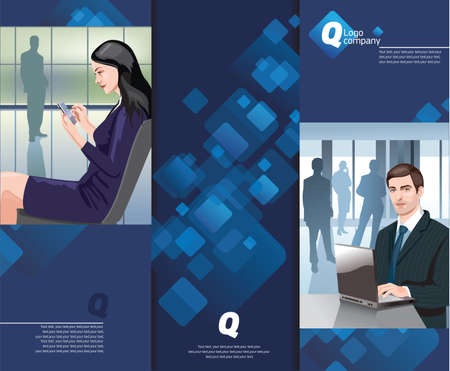 corporate style business office, and new technologies