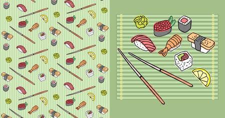 Sushi_Pattern Stock Vector - 9531395