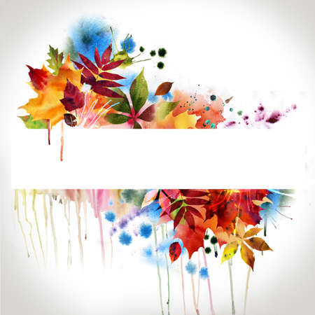 floral design, watercolor painting