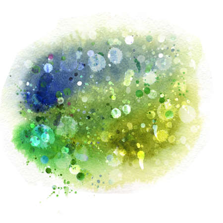 Watercolor winter background, hand-painting  photo