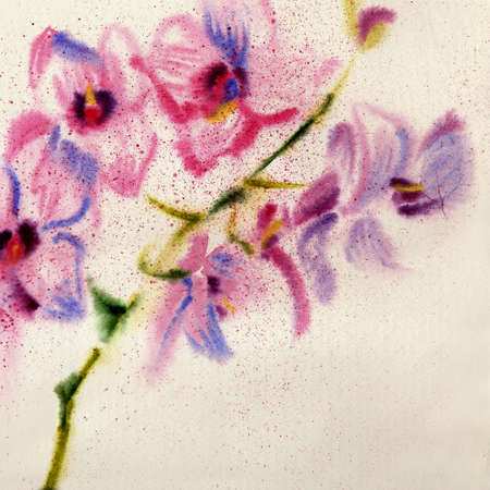 colorize: Beautiful watercolor orchid