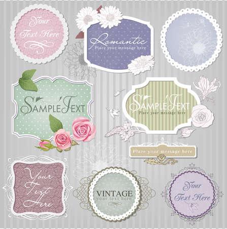set: vintage labels Illustration