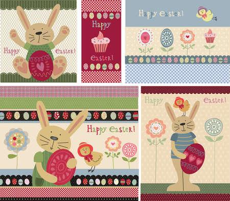 cartoon bunny: Buona Pasqua Vettoriali
