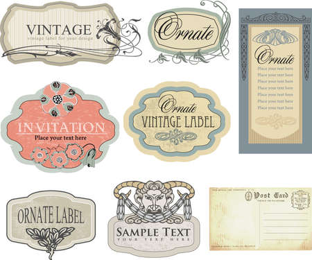 set: vintage labels  Vector
