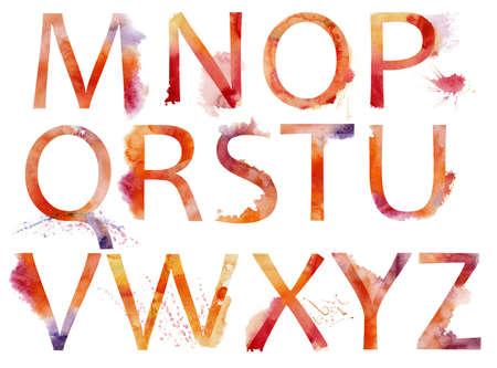 pila bautismal: Acuarela alfabeto