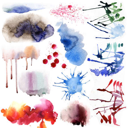multilayer: Watercolor set Stock Photo