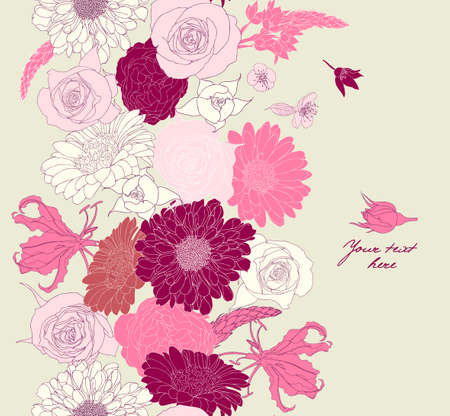 Floral seamless pattern Stock Vector - 16612389