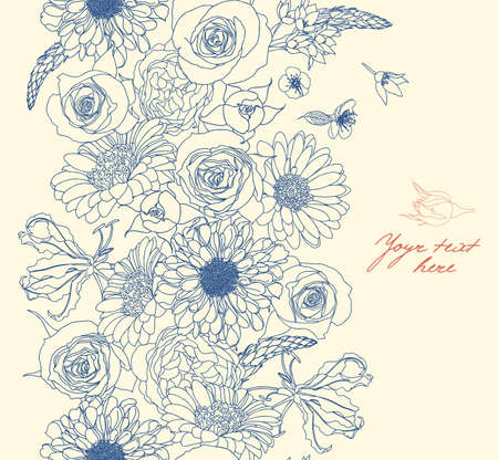 poema: Floral seamless pattern