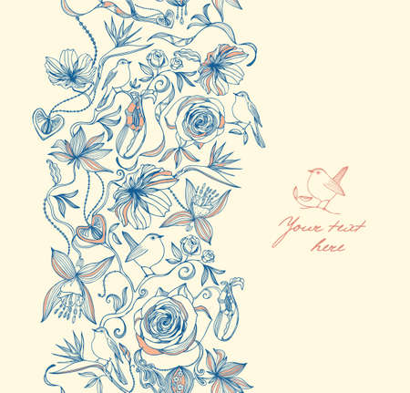 cosmetics products: Floral seamless pattern