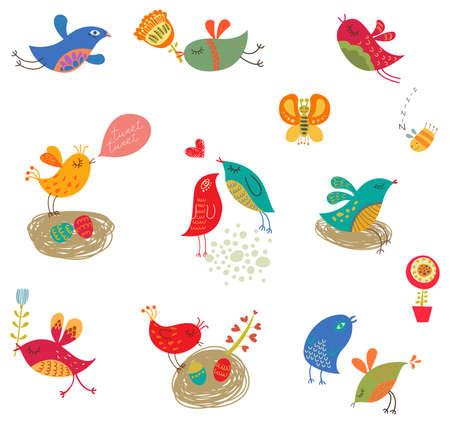 bird set Illustration