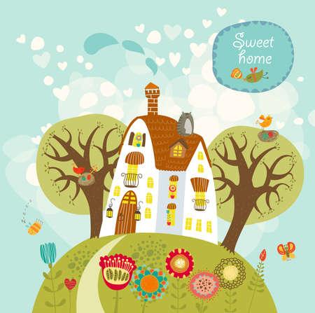 sweet home: dulce hogar Vectores