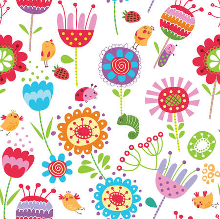 nestle: Floral seamless pattern