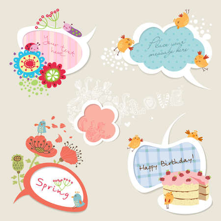 whimsical: Speech bubble set